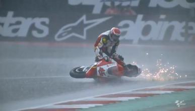 Nagashima hace surf con su Moto2 en Austria