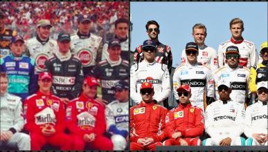 Parrilla F1 2001 y 2018