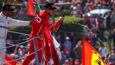 Sebastian Vettel en Monza