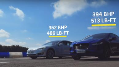 VÍDEO: Jaguar I-Pace vs. Tesla Model S 75D: ¿cuál de los dos eléctricos es más rápido?