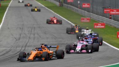 Alonso en el GP Italia en Monza