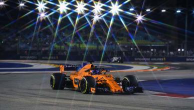Alonso en el GP Singapur 2018