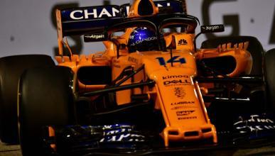 Alonso en el GP Singapur
