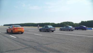 BMW M3 drag race