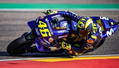 Descalabro de Valentino Rossi en Aragón