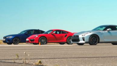Nissan GT-R vs BMW M5 vs Porsche 911 Turbo S