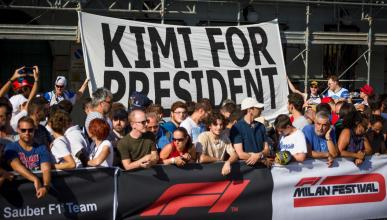 Pancarta Kimi for President