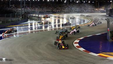 Salida GP Singapur 2017