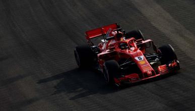 Sebastian Vettel en los Libres 3 de Singapur