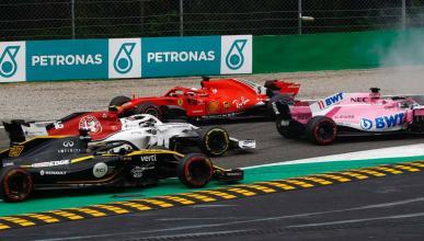 Trompo Vettel en Monza