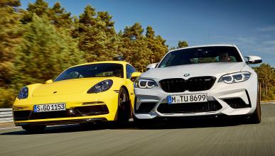 BMW M2 Competition vs nuevo Porsche 718 Cayman GTS