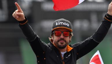 Fernando Alonso en el GP de México