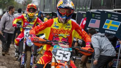 Jorge Prado en el Motocross de las Naciones
