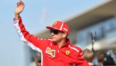 Kimi Räikkönen saluda