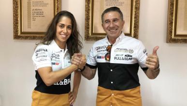 María Herrera, con Aspar en MotoE 2019