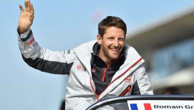 Romain Grosjean en Austin