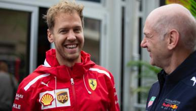 Sebastian Vettel y Adrian Newey