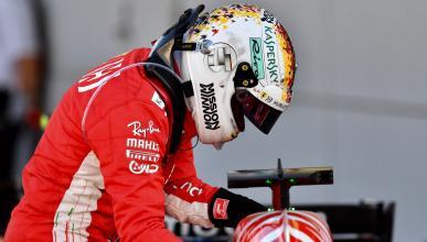 Sebastian Vettel en el pit-lane de Japón