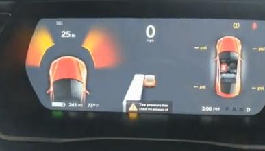 Un Tesla confunde una secadora con un autobús