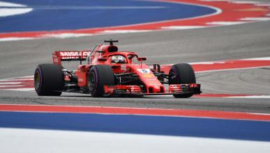 Vettel en el GP EEUU