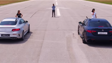 VÍDEO: Mercedes-AMG C63S Coupe vs. Alfa Romeo Giulia QV