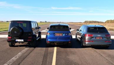 Range Rover Sport SVR vs Audi SQ7 vs Mercedes-AMG G63
