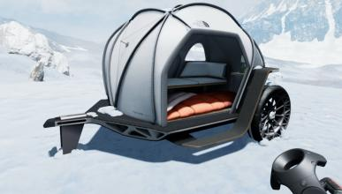 BMW Designworks y The North Face crean una camper ligera y futurista