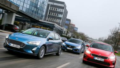 Ford Focus vs Honda Civic y Kia Ceed