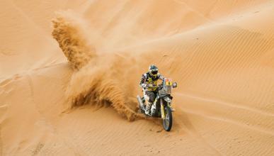 Motos trial rally Pablo dunas polvo