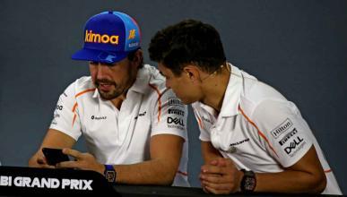 Fernando Alonso y Lando Norris