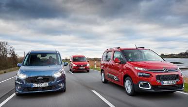 Citroën Berlingo vs Ford Tourneo y Volkswagen Caddy