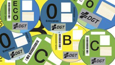 Las multas que pueden poner a un coche sin etiqueta DGT