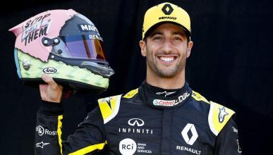 Daniel Ricciardo y su casco