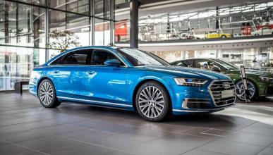 Audi A8 Ara Blue Crystal Metallic