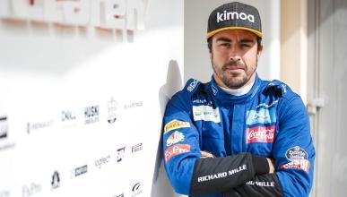 Fernando Alonso en los test de Bahréin