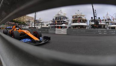 Carlos Sainz en Mónaco