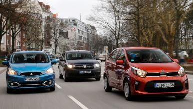 Dacia Sandero, Mitsubishi Space Star y Kia Picanto