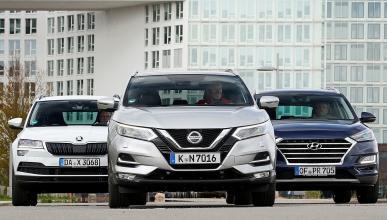 Nissan Qashqai vs Hyundai Tucson y Skoda Karoq