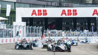 Salida de la carrera de Berlin de la Fórmula E