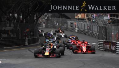Salida GP Mónaco 2018