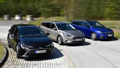Toyota Corolla TS vs Ford Focus AW y Peugeot 308 SW