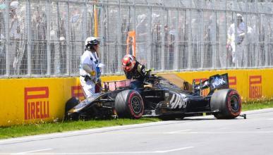 Accidente de Kevin Magnussen en Canadá