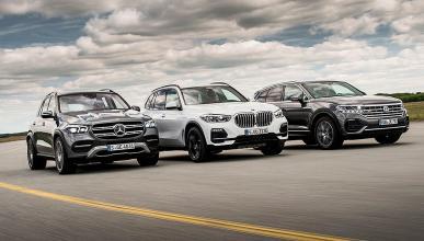Comparativa del Mercedes GLE 2019 vs BMW X5 y Volkswagen Touareg