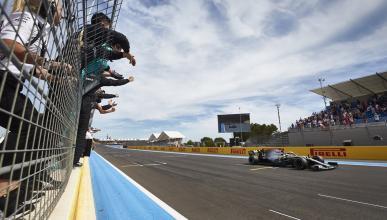 Hamilton solo en el GP de Francia
