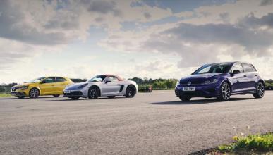 VW Golf R vs Renault Mégane RS Trophy vs Porsche 718 Boxster GTS