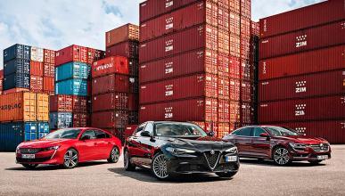 Comparativa: Alfa Giulia vs Peugeot 508 y Renault Talisman