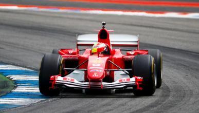 Mick Schumacher prueba el Ferrari F2004 en Hockenheim