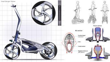 patinete eléctrico tres ruedas niken futuro movilidad urbana