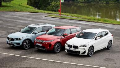 Comparativa del Range Rover Evoque vs Volvo XC40 y BMW X2