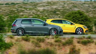 Comparativa Renault Mégane RS Trophy contra Volkswagen Golf GTI TCR